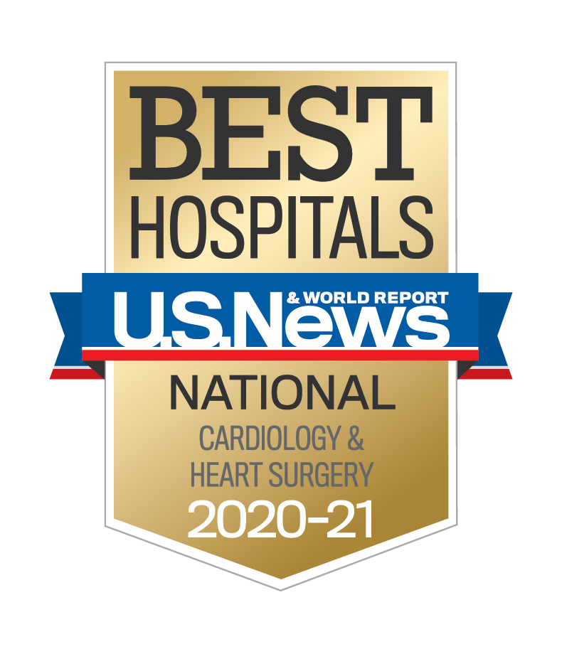 U.S. News & World Report Best Hospitals National Cardiology & Heart Surgery 2020-21