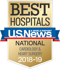U.S. News & World Report Best Hospitals National Cardiology & Heart Surgery 2018-19