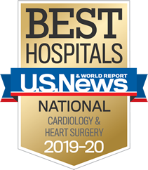 U.S. News & World Report Best Hospitals National Cardiology & Heart Surgery 2019-20